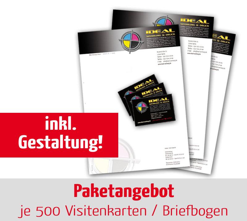 Paket Neugestaltung Je 500 Visitenkarten Briefbogen