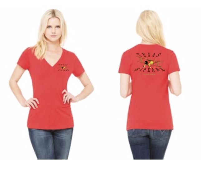 On Sale! Ladies V-Neck Red, reg $20 T-LVR