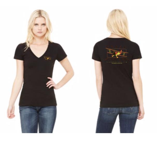 On Sale! Ladies V-Neck Black, reg $20 T-LVBL