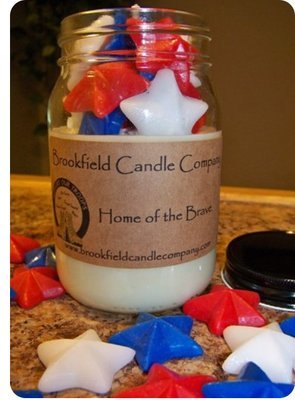 HOME OF THE BRAVE 3D STAR CANDLE