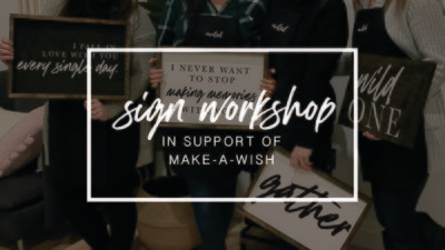 Sign Party - May 16 - In support of Make-A-Wish® - The Berkshire Club