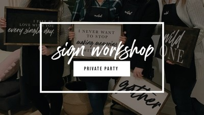 Sign Party - Private Party - Marleen - April 27