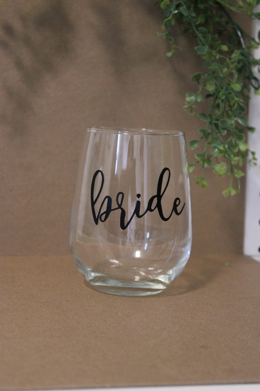 Wine Glass - Bride
