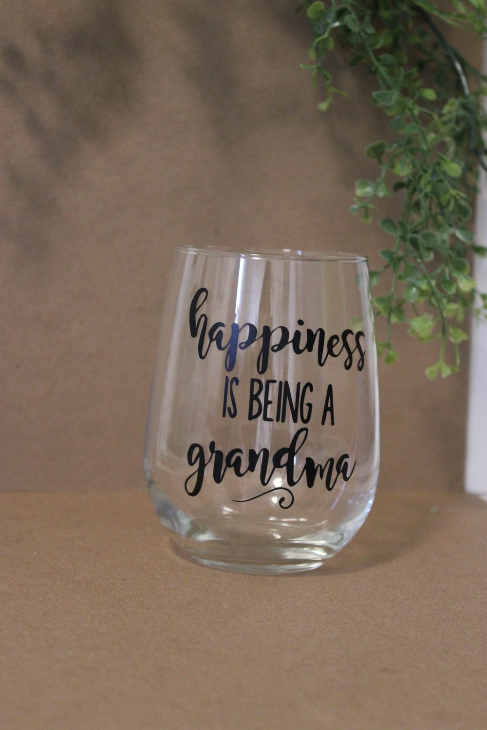 Wine Glass - Happiness is being a Grandma