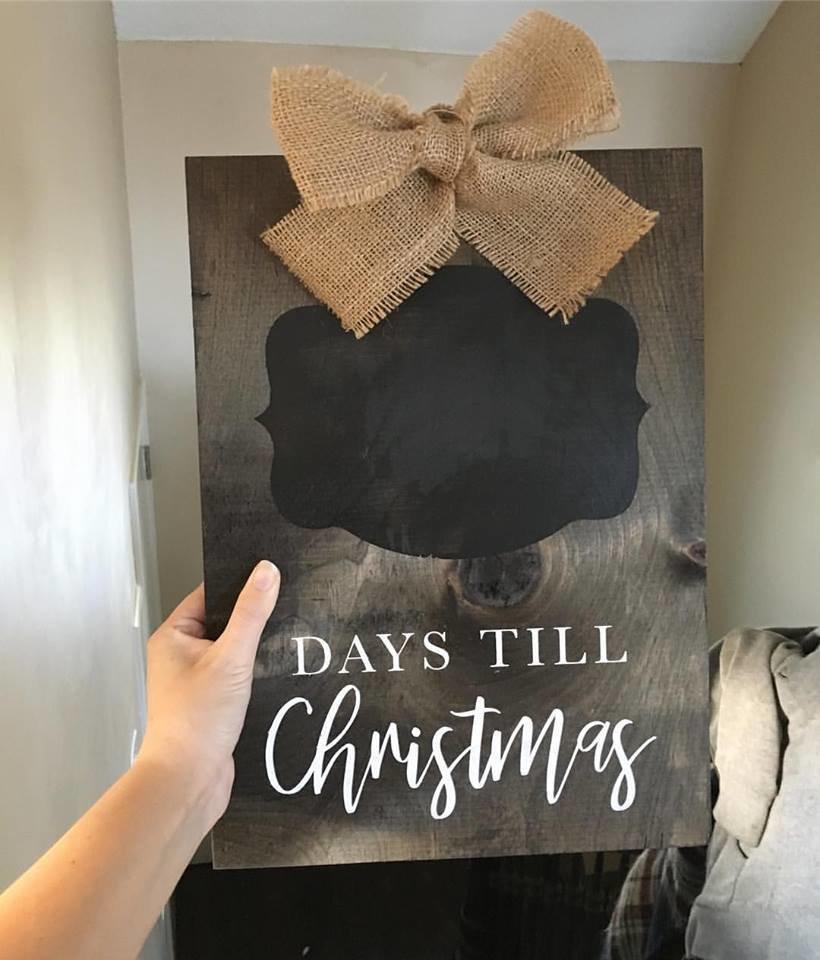 Christmas Countdown  - Wood Sign