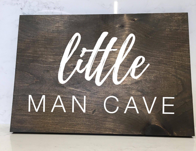 Little Man Cave - 12x16 Wood Sign