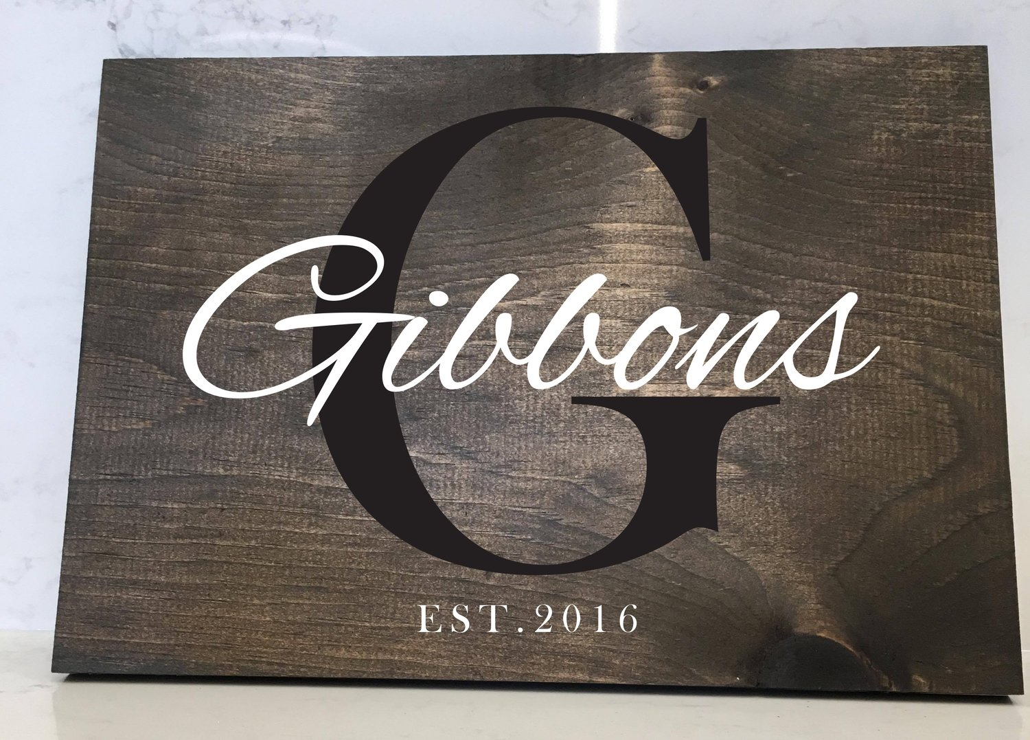 Family Name - 12x16 Wood Sign