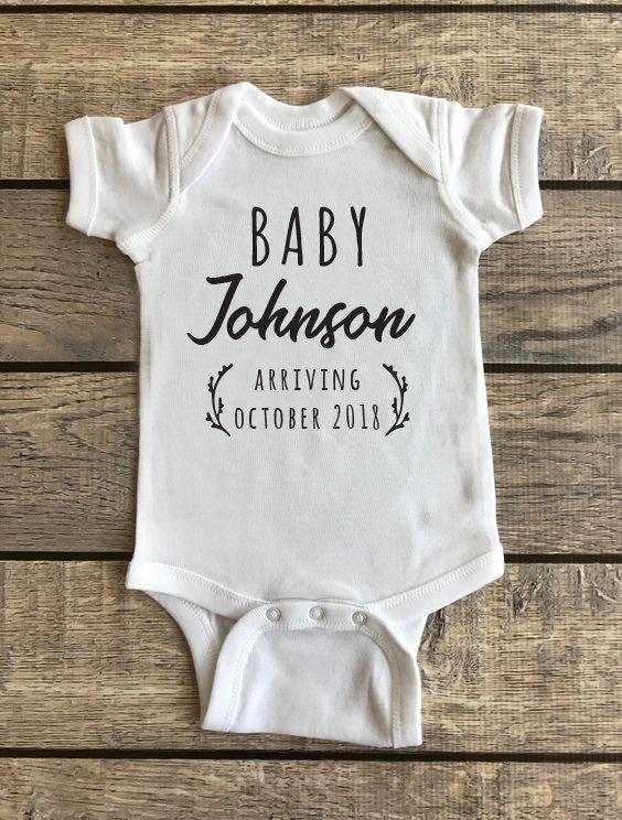 Baby Announcement   Baby Onesie