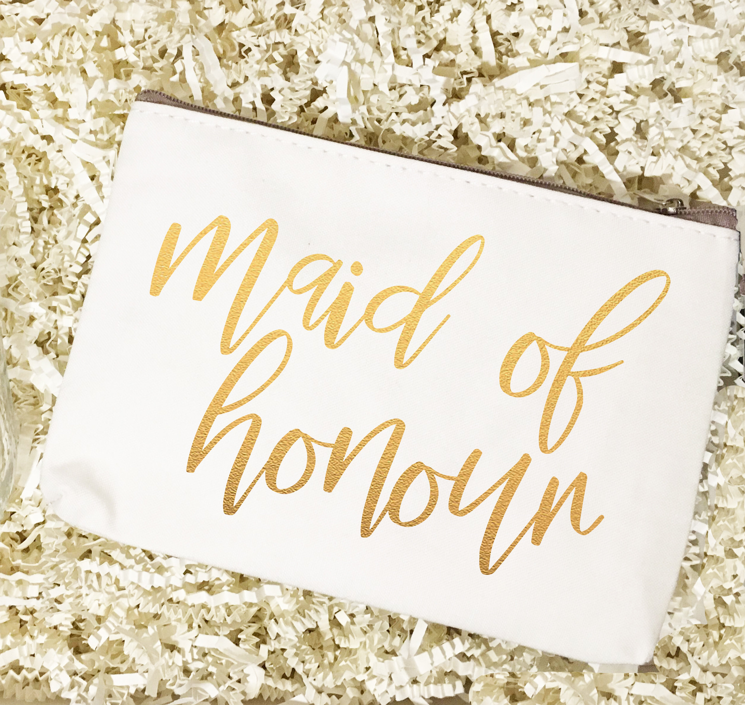 Bridal Party Titles | Make Up Bag