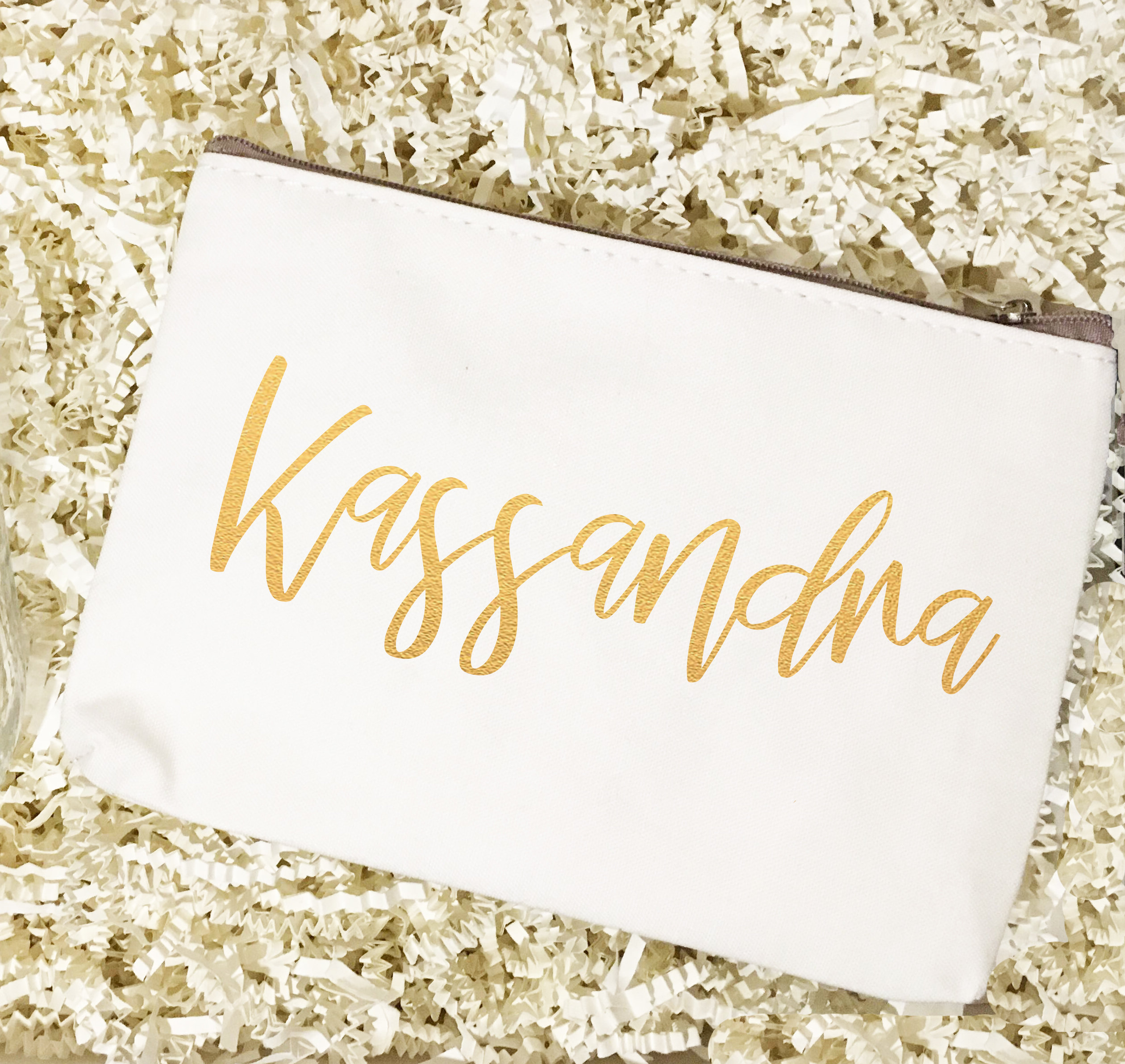 Bridal Party Names | Make Up Bag 00205