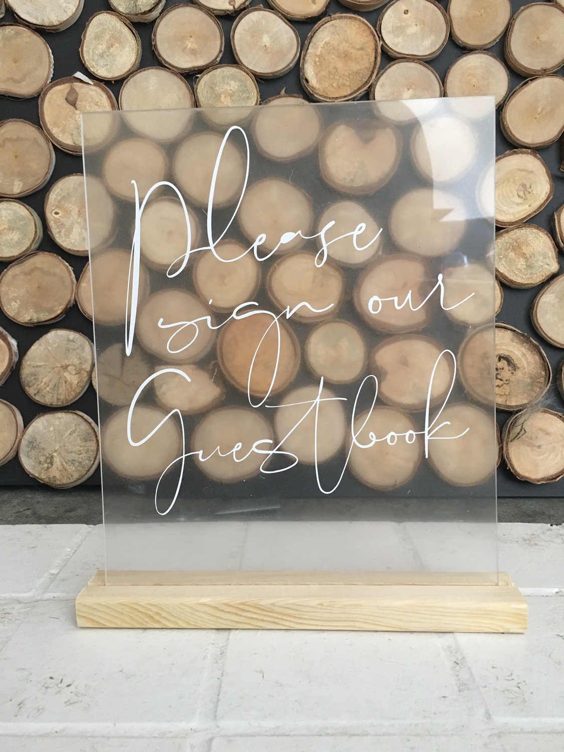 Please sign our guest book | Acrylic
