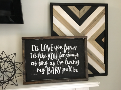 """""""My Baby You'll Be"""" Block Letters 