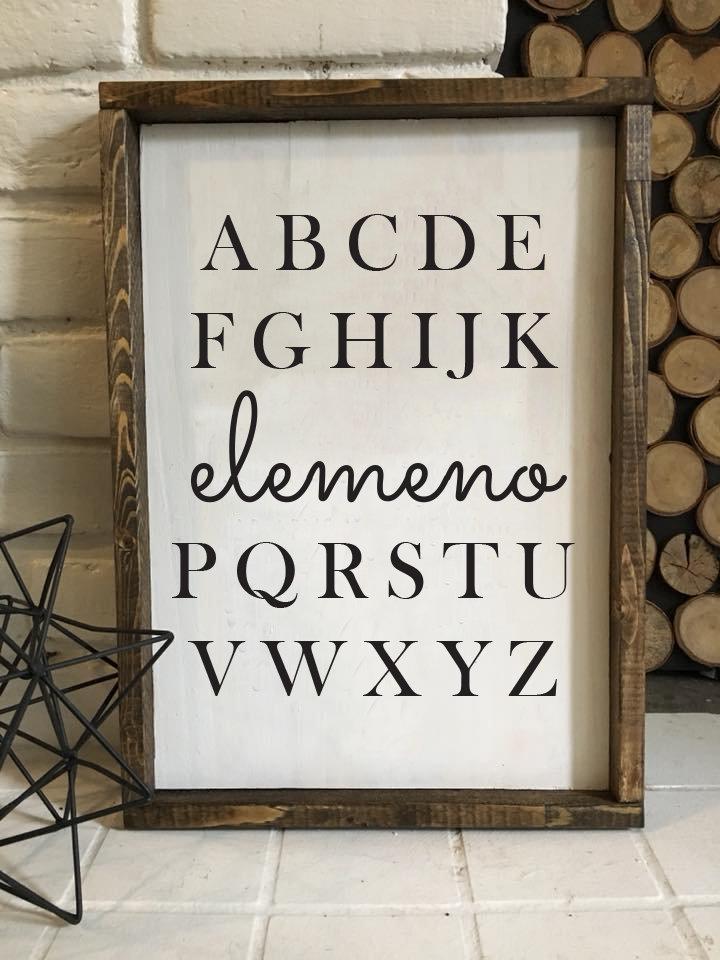 Elemeno | Wood Sign