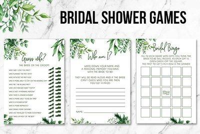 Green Foliage | Bridal Shower Games | Printable Good