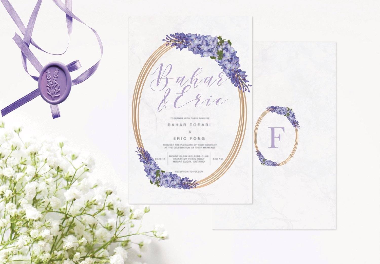 Lavendar Invitations