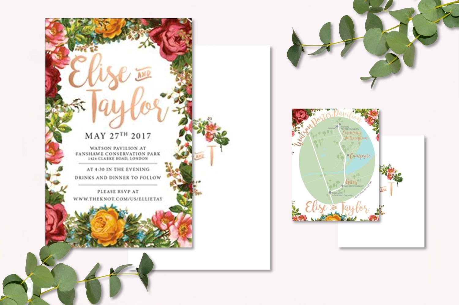 Vintage Florals Invitations