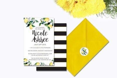 Yellow Lemon Bridal Shower