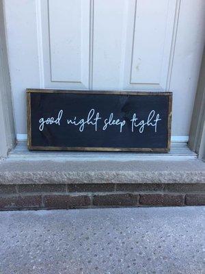 Good night sleep tight | Wood Signs