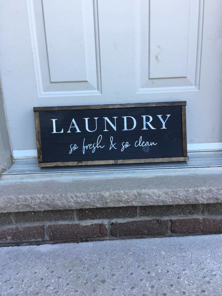 Laundry So Fresh & So Clean | Wood Signs