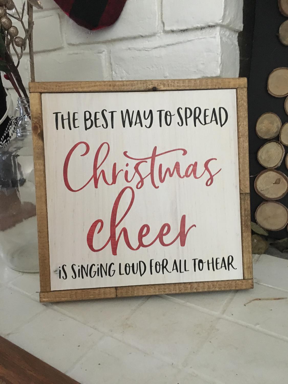 Christmas Cheer | Wood Sign