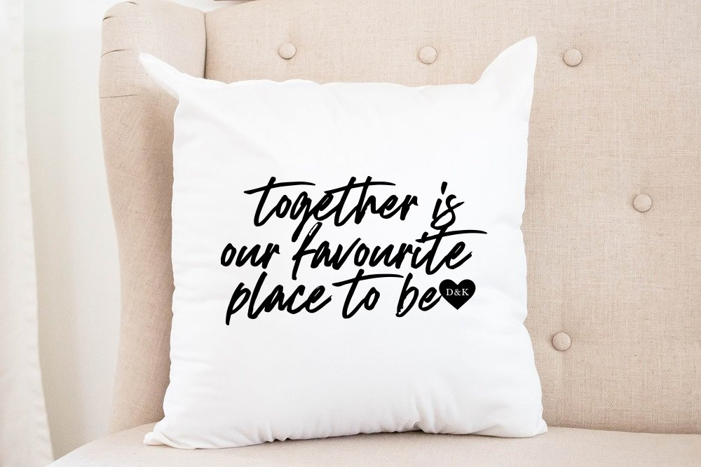 """Together is our favourite place to be"" 