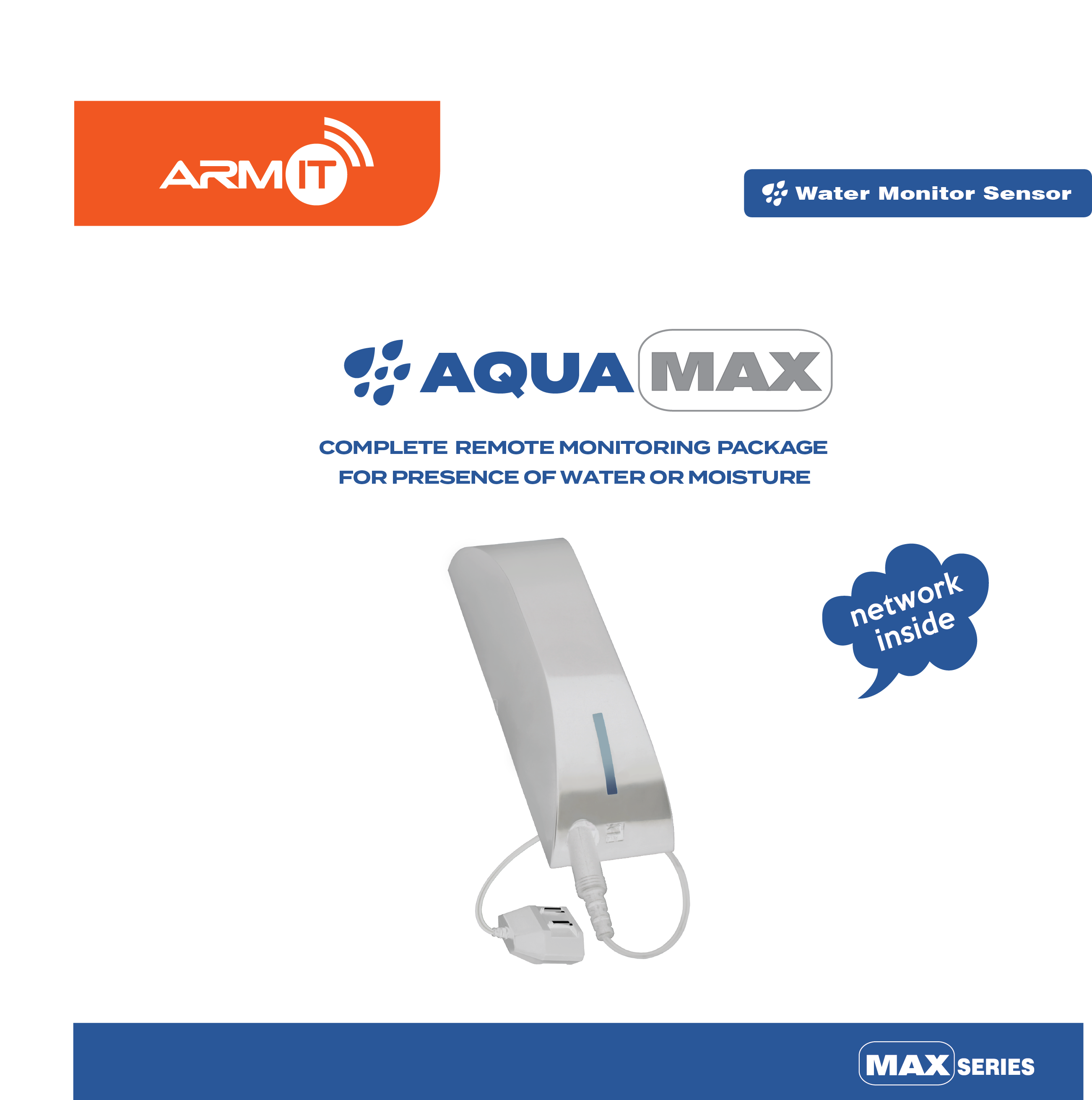 ARMIT AquaMAX™ | Complete Water Leak Monitor Kit : AQUAMAX-WH
