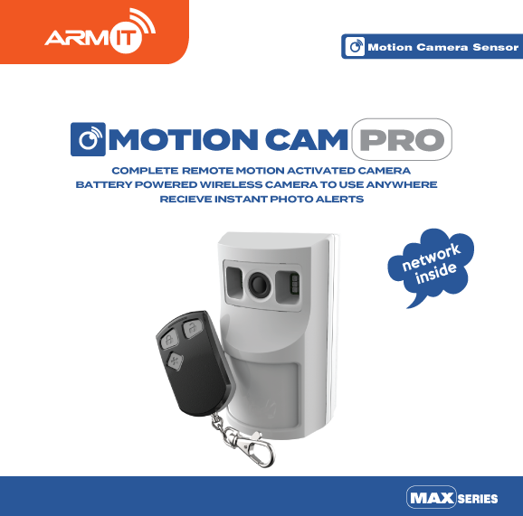 ARMIT MotionCam-Pro™  | Wireless Motion Sensor Camera : PMAXC-WH
