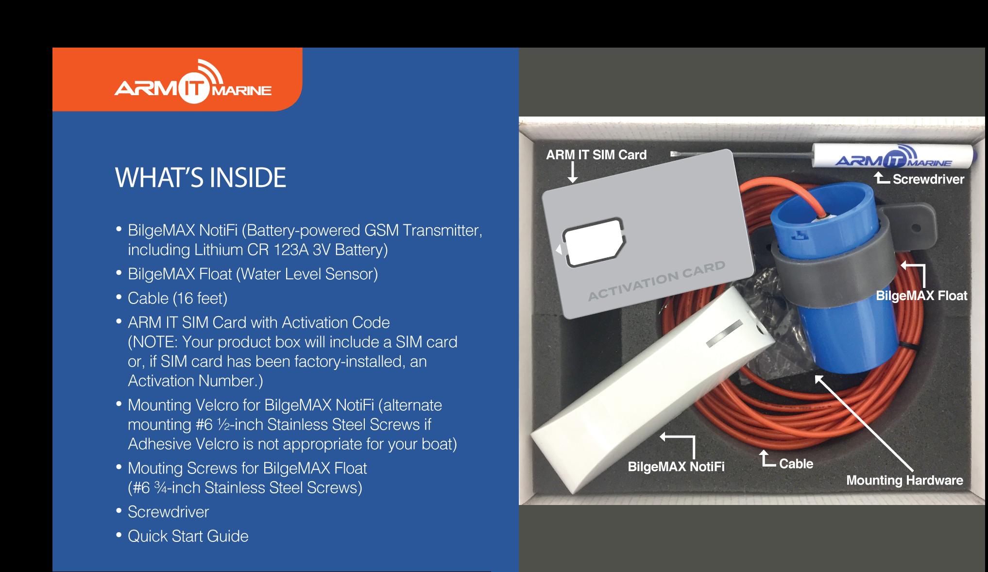 ARMIT BilgeMAX™ | Wireless Boat Bilge Alarm Monitor Kit