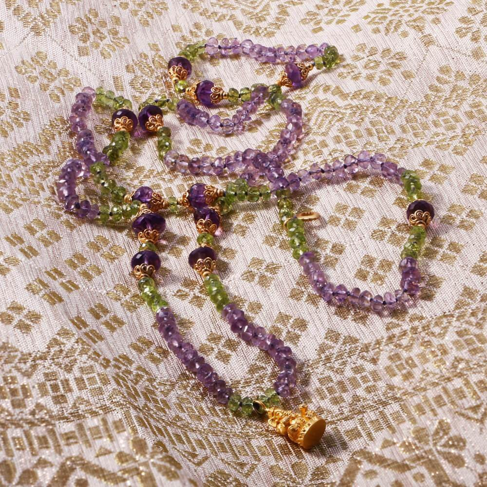 Source of Truth Mala • Amethyst • Peridot