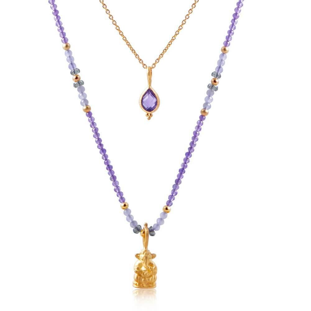Ganesha Nadi Necklace • Amethyst 00014