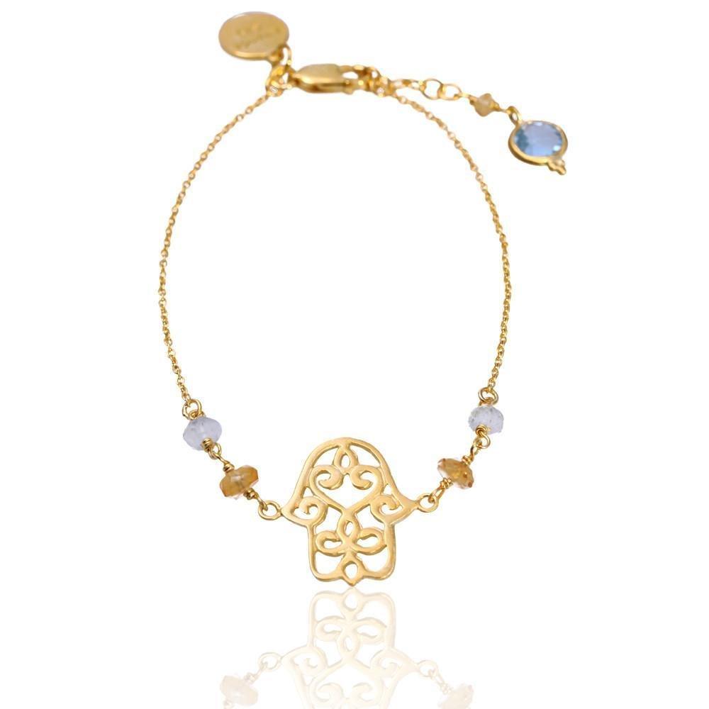 Hamsa Bracelet • Gold Vermeil