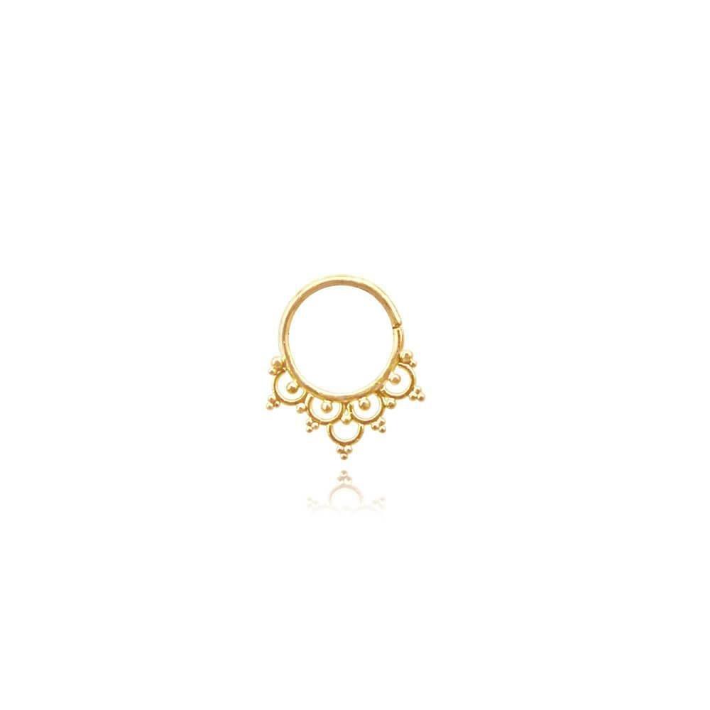 Blooming Lotus • Septum Piercing • 22KT Gold