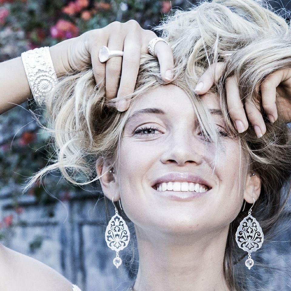 Souldance Earrings • Rose Quartz • Gold Vermeil