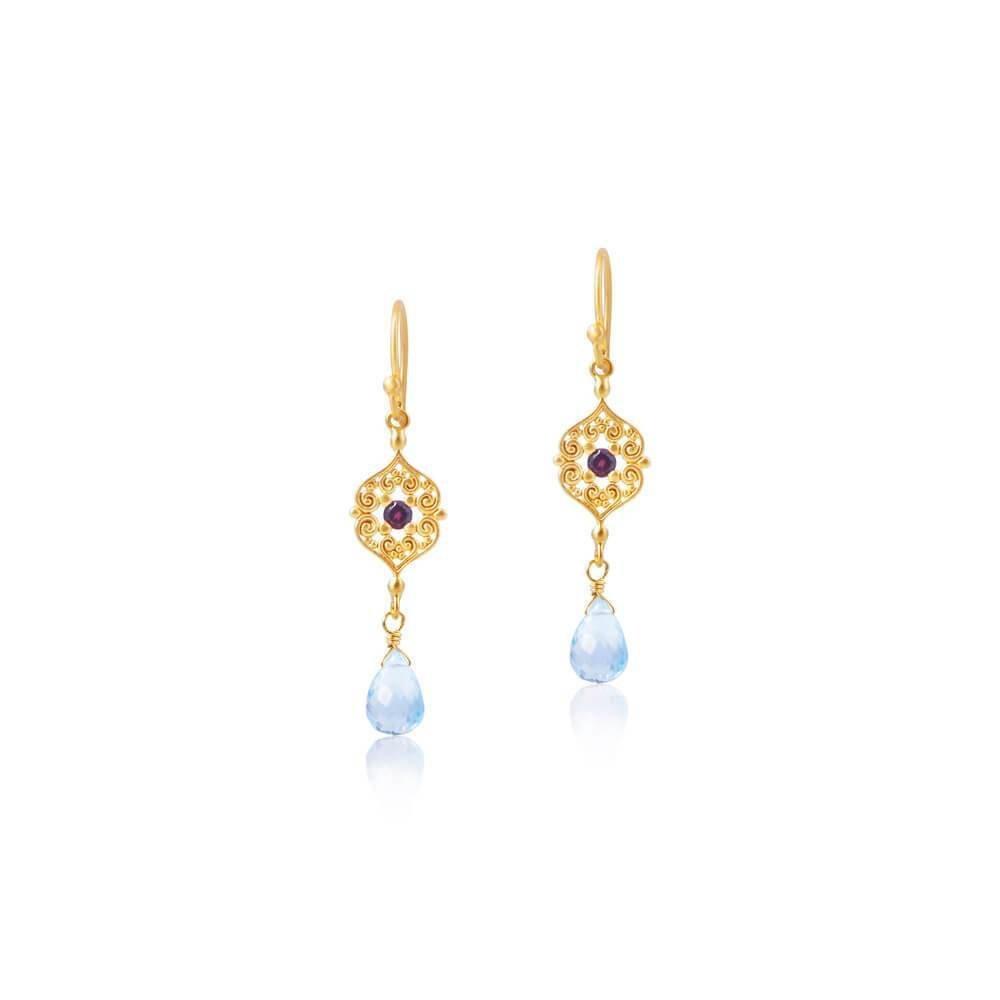 Sacred Heart Earrings • Gold Vermeil 00030