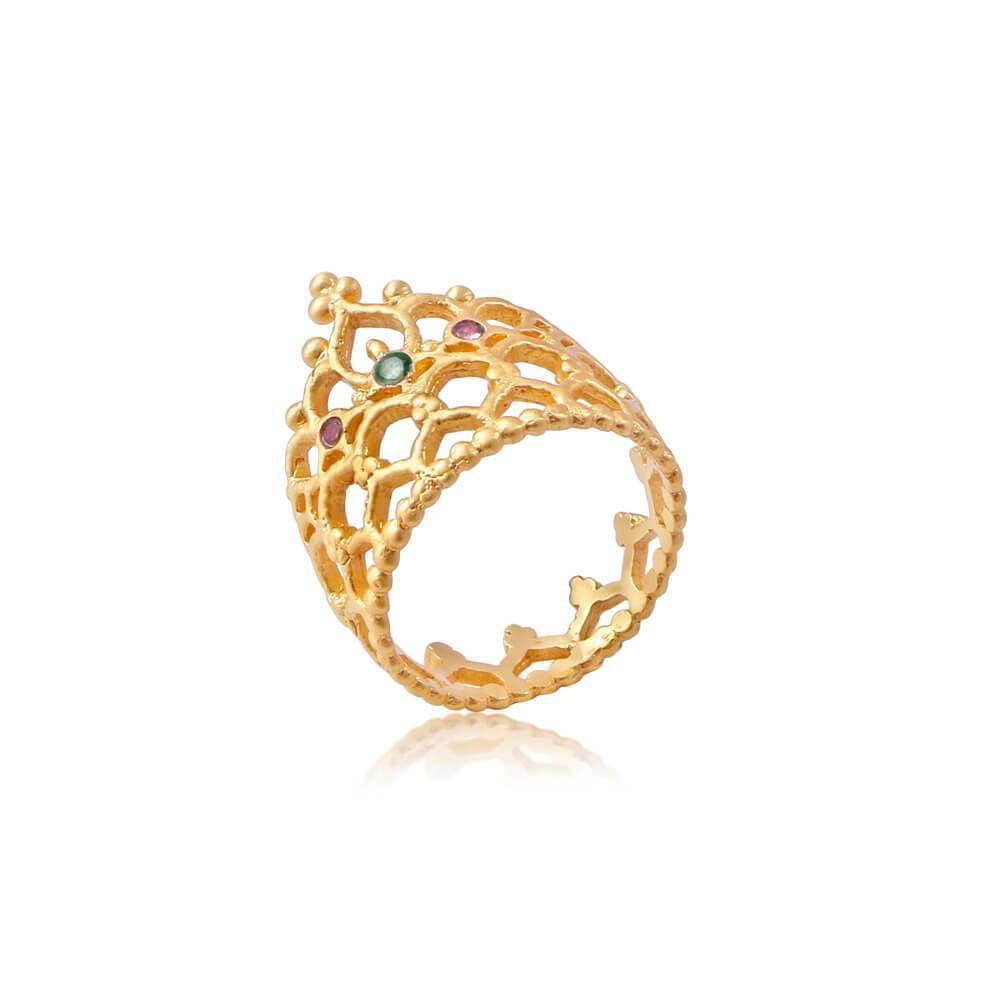 Trust Your Strength Ring • Gold Vermeil 00032