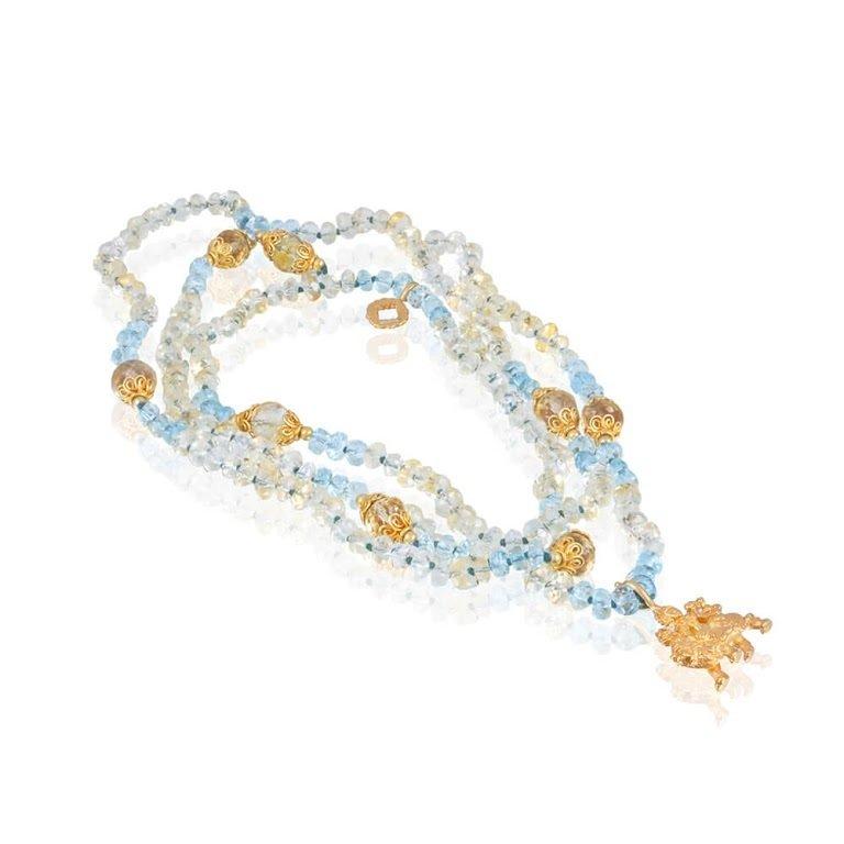 Durga Mala • Aquamarine 00007
