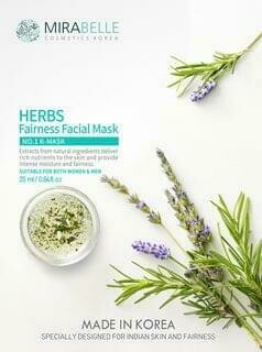 Mirabelle Herbs Fairness Facial mask