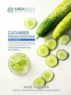 Mirabelle Cucumber Fairness Facial mask