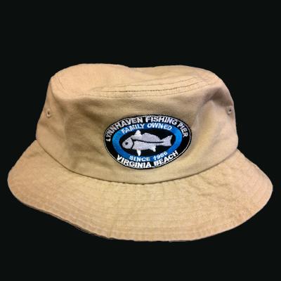 Lynnhaven Pier Logo Vacationer Bucket Hat - CARIBBEAN BLUE ONLY