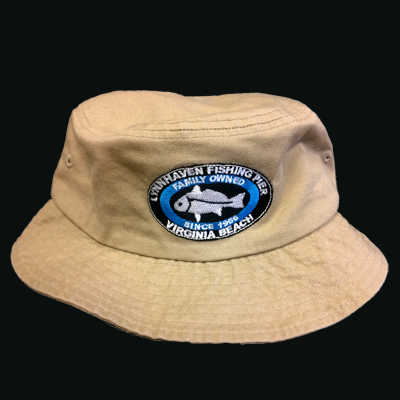 Lynnhaven Pier Logo Vacationer Bucket Hat - CARIBBEAN BLUE ONLY