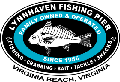 Lynnhaven Pier Novelty Back T-shirt with Front Left Chest Logo: Women's Hanes Nano T (including plus sizes)