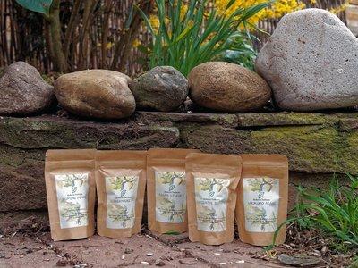 Probepaket: Von jeder 5 angebotenen Teesorte 20 Gramm. Insgesamt 100 Gramm