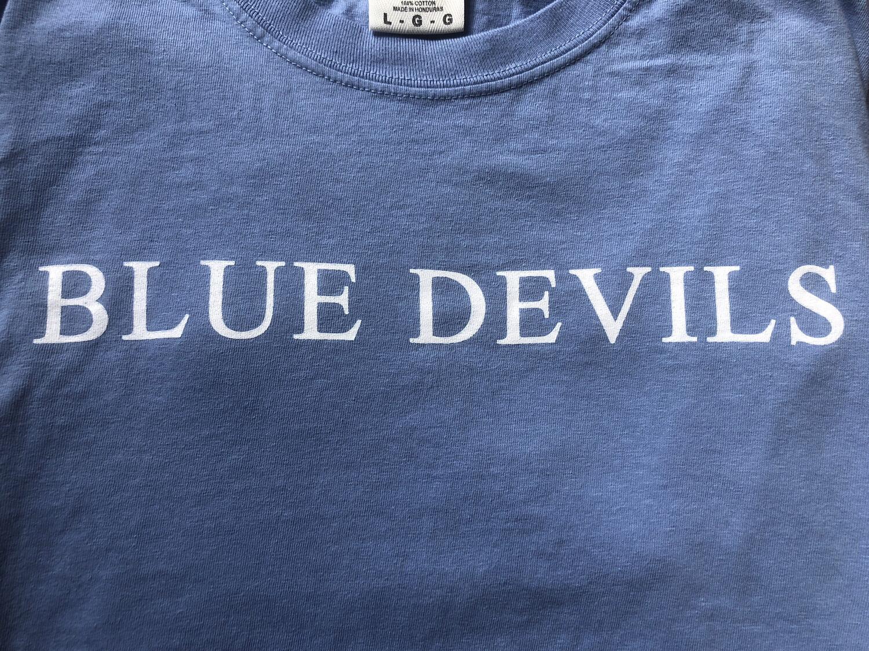 """Blue devils"" Blue Short Sleeve"
