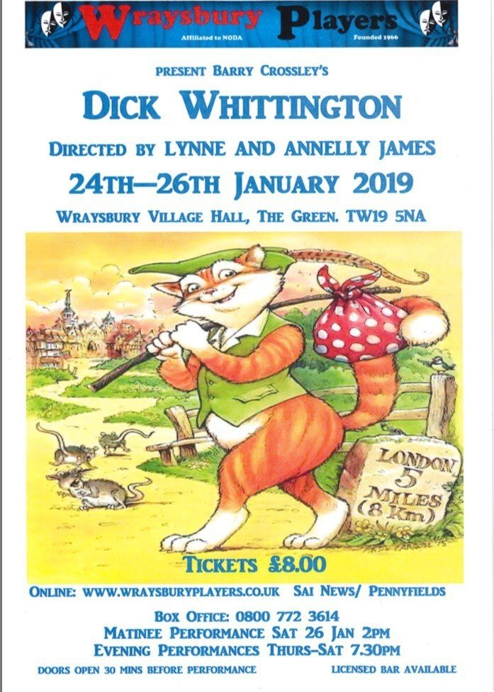Dick Whittington - Saturday Eve 26th Jan 2019
