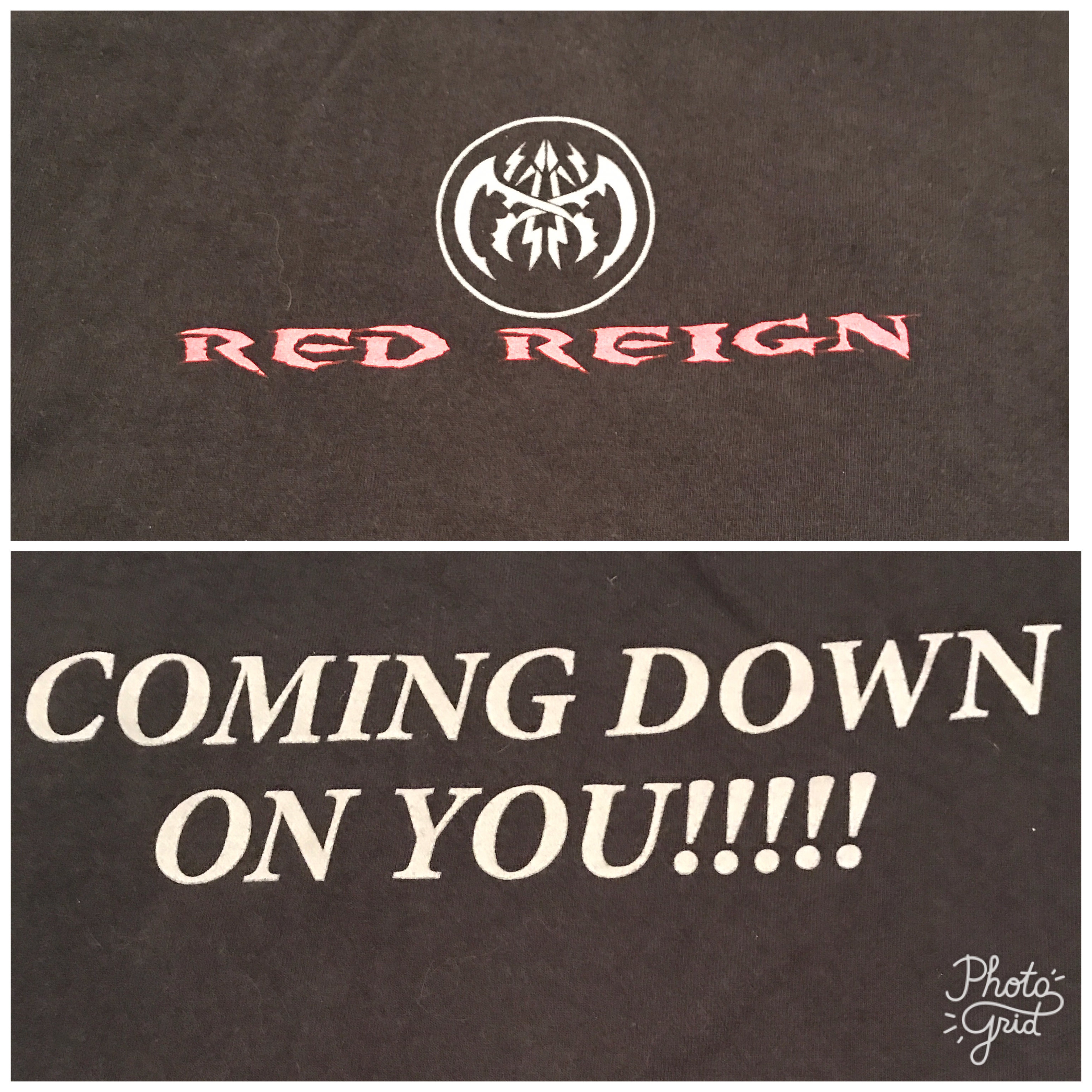 Red Reign T Shirt Style 2 Black Front and Back 00002