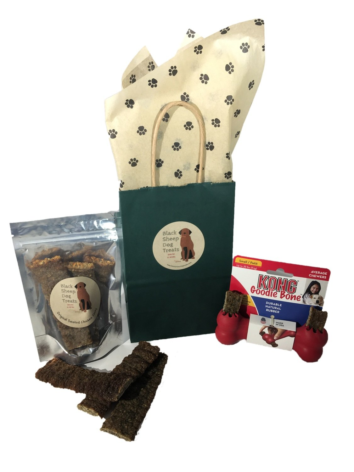 Jerky and KONG Goodie Bone Toy Gift Set