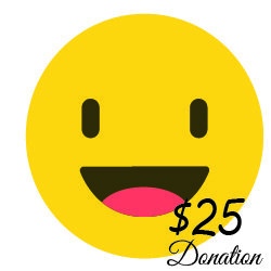 $25 Donation  ( 13 cents a day) 00001