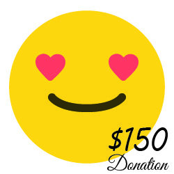 $150 Donation  ( 55 cents a day) 00005
