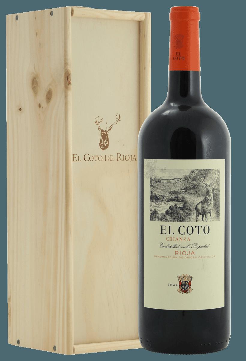 Mooie Houten Box.El Coto Magnum Fles In Mooie Houten Kist Spanje Rioja