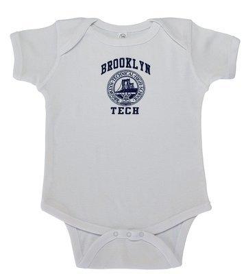 Baby Short Sleeve Onesie - White